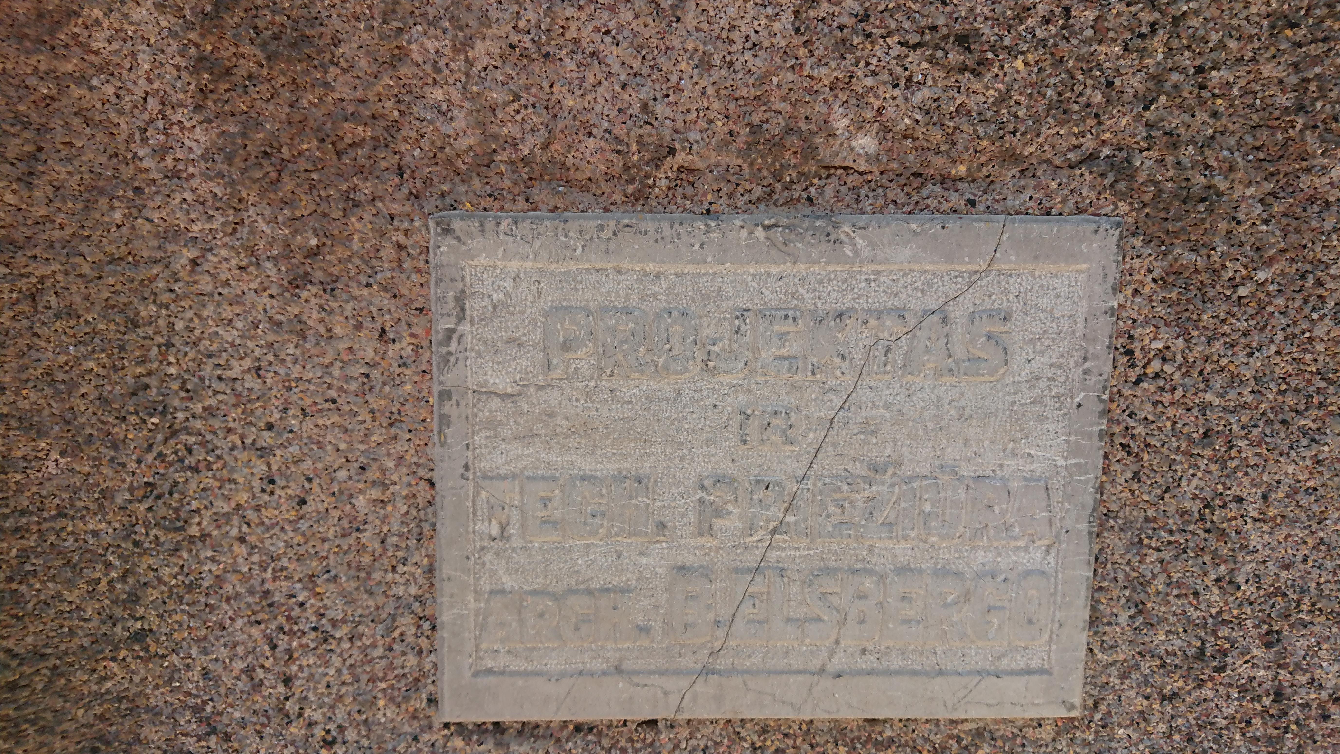 """Pastate unikaliai išliko arch. Broniaus Elsbergo """"autografas""""."""