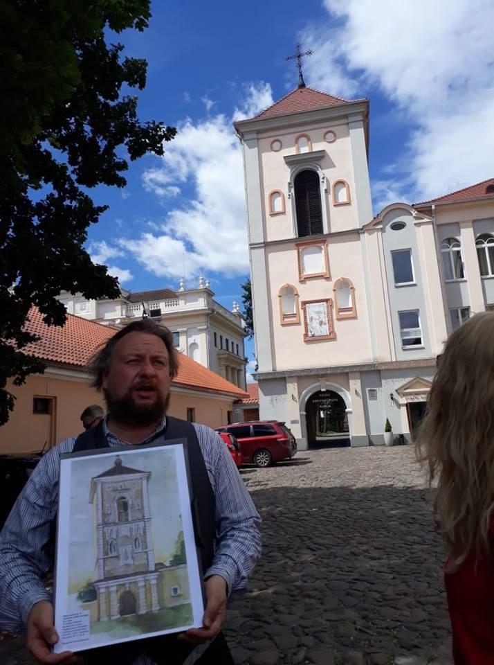 Vienas tuo metu dažniausiai vaizduotų Senamiesčio objektų - dabartinė Kauno arkivyskupijos kurija.