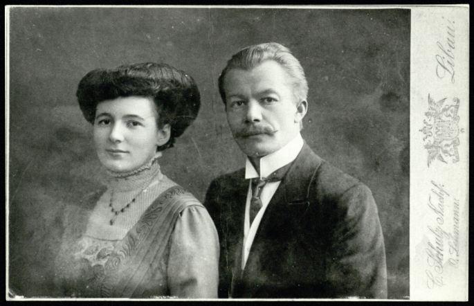 Su žmona Sklėrius susipažino Liepojoje, visą gyvenimą jie buvo impozantiška pora